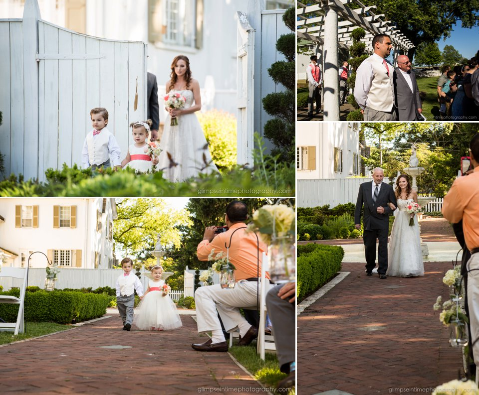 white chimneys outdoor ceremony