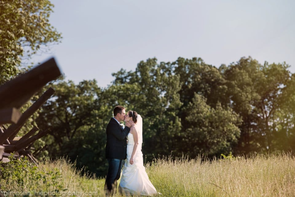 gettysburg battlefield wedding photos